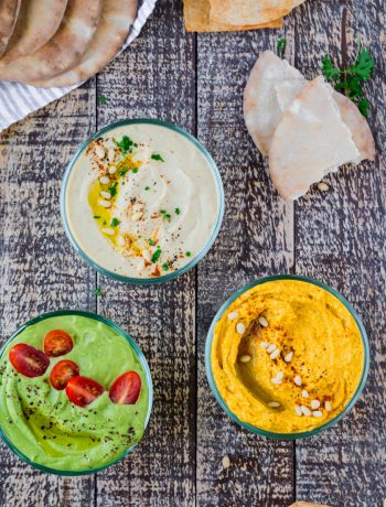 Simple Everyday Hummus Three Ways