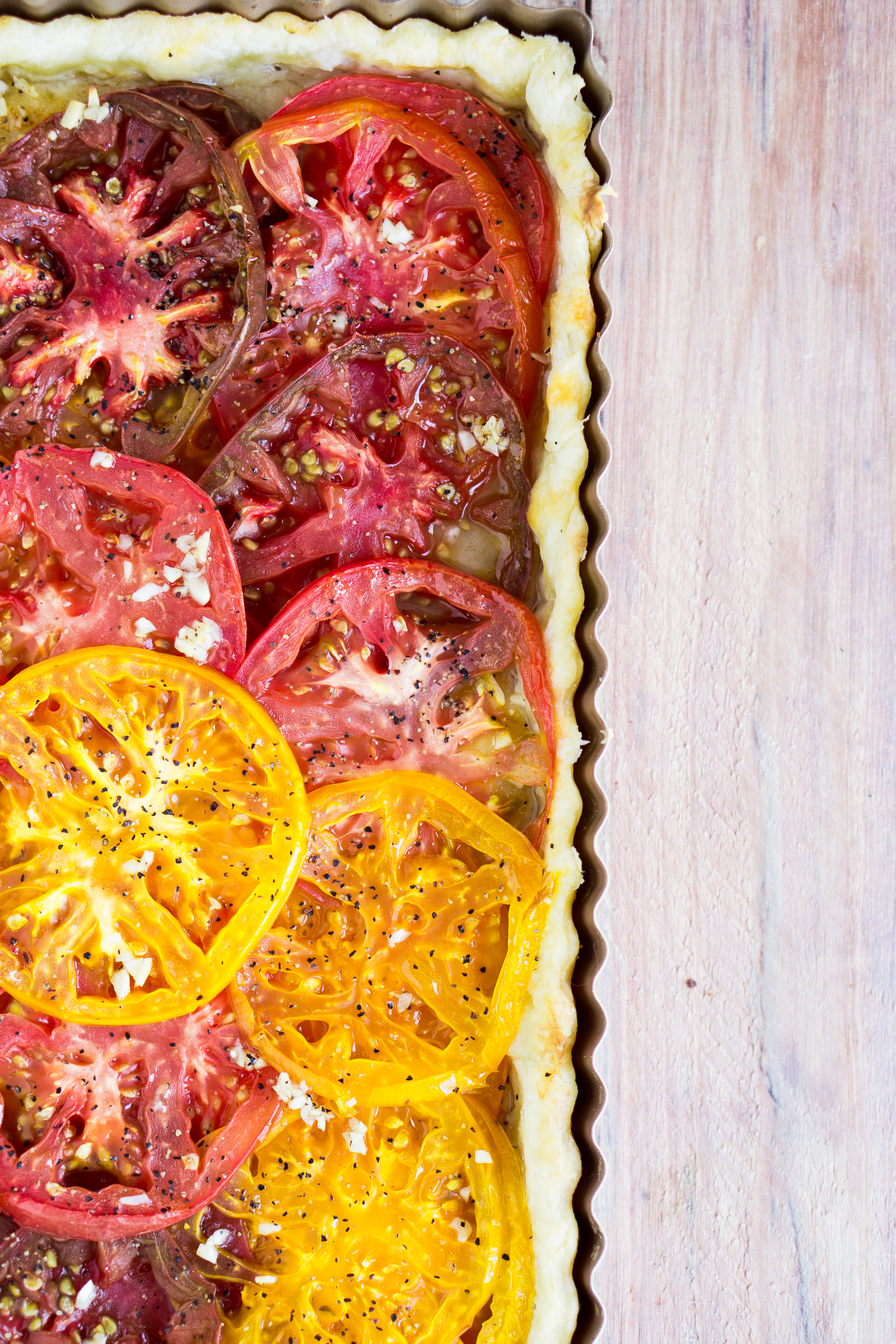 Colorful Tomato Tart