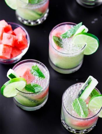 Cucumber & Watermelon Mint Mojitos