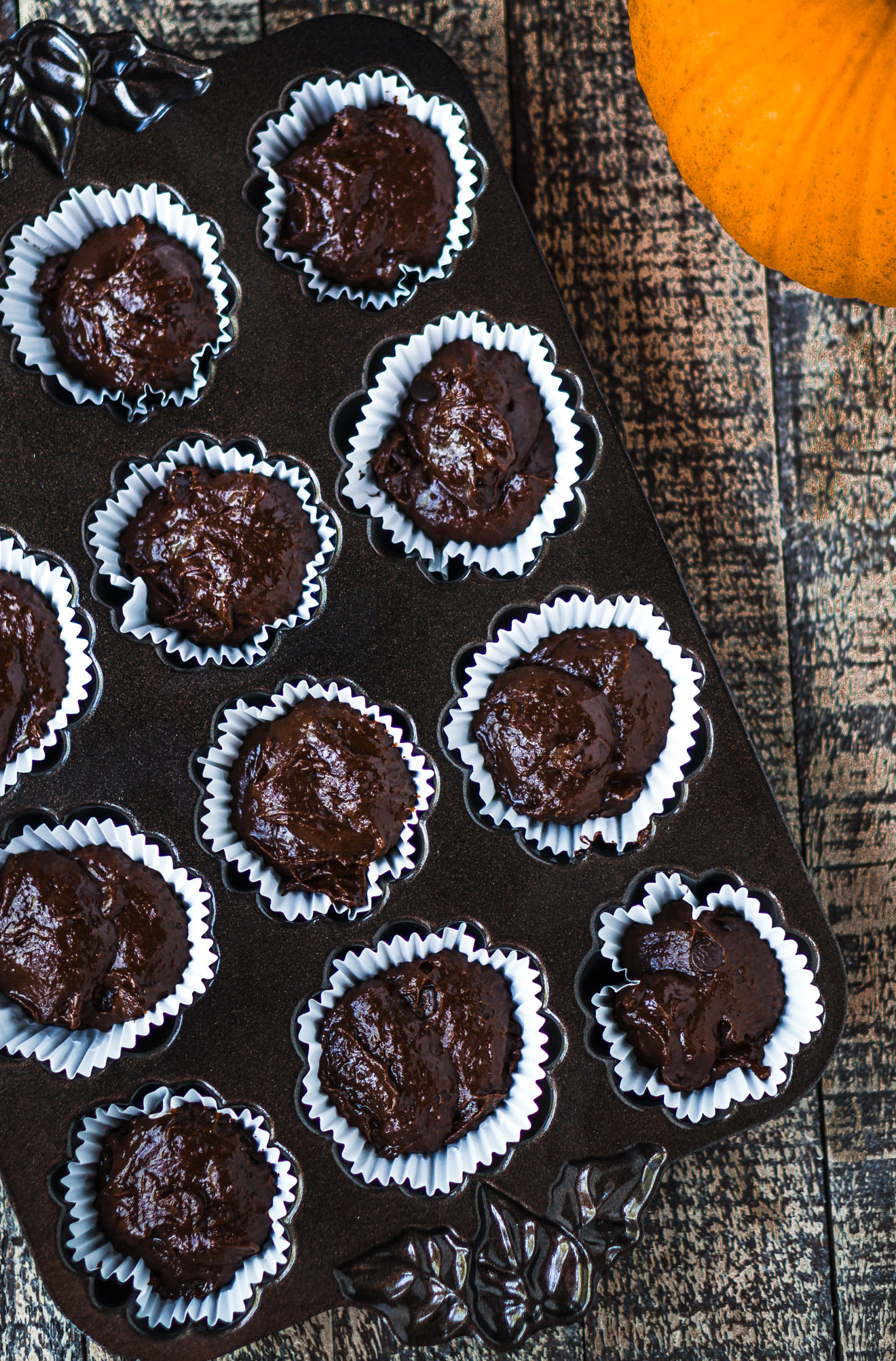Decadent, Rich Pumpkin Chocolate Chip Muffins, 1-bowl - vegan