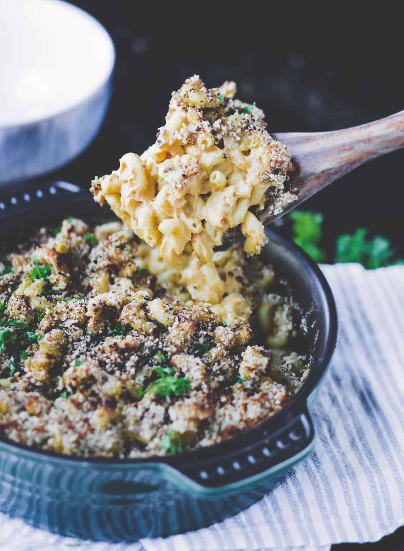 Vegan Mac n Cheese with Parsley
