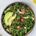 Kale & Red Quinoa Salad with Lemon Vinaigrette