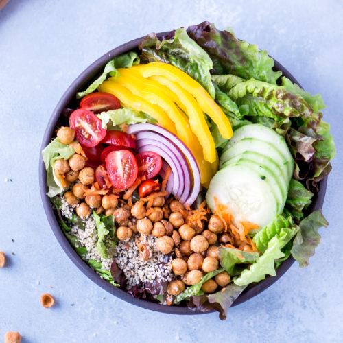 Every Day Colorful Salad with Homemade Balsamic Vinaigrette