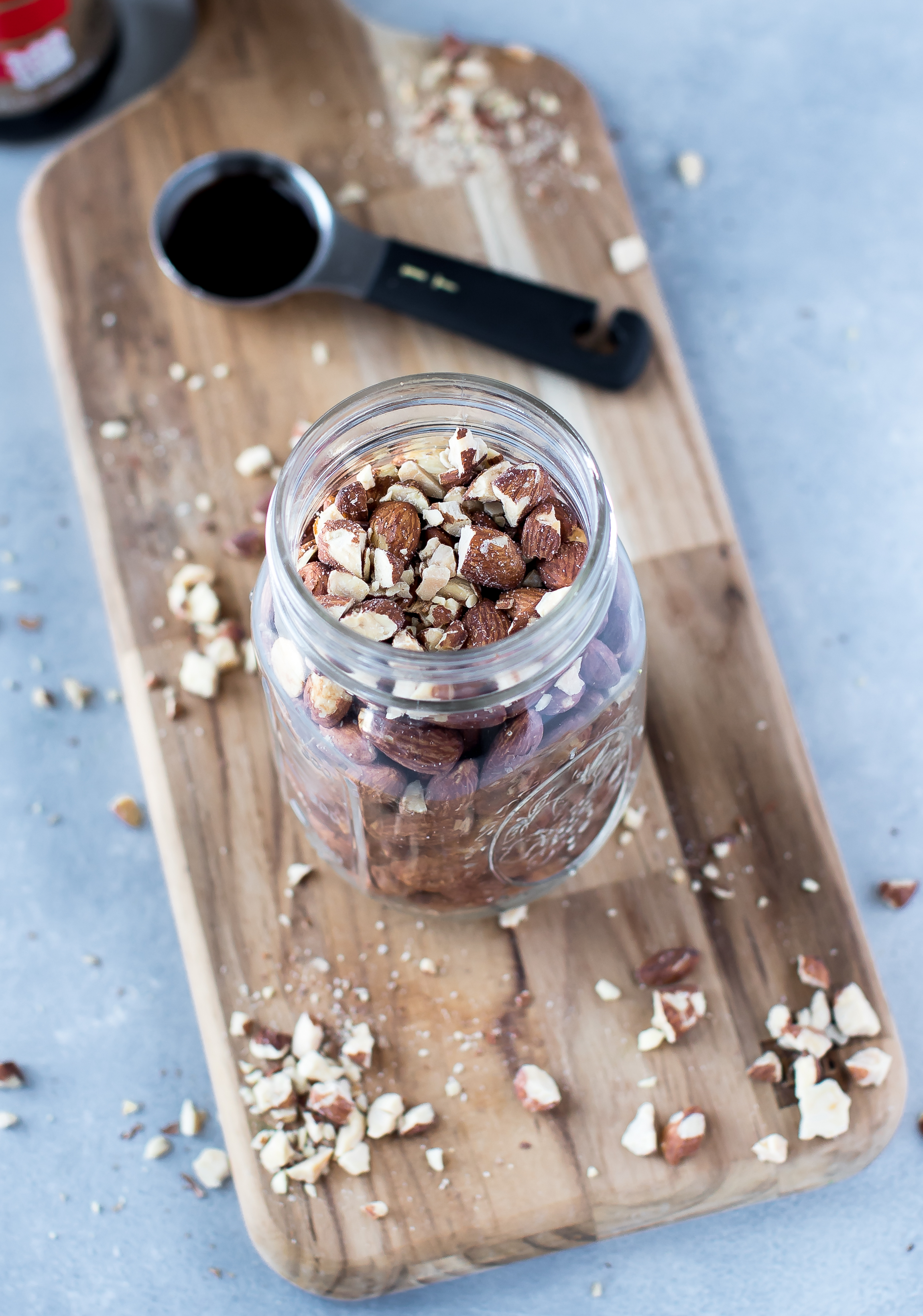Simple Roasted Tamari Almonds by Eat. Love. Namaste.