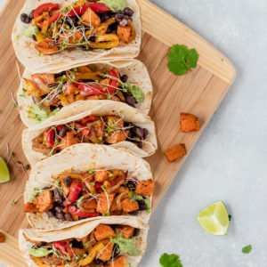 1-Pan-Sweet-Potato-&-Black-Bean-Tacos-by Eat. Love. Namaste.