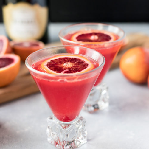 Simple and Delicious Blood Orange Mimosas
