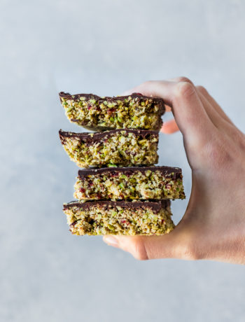 Cranberry Pistachio Oats Bars