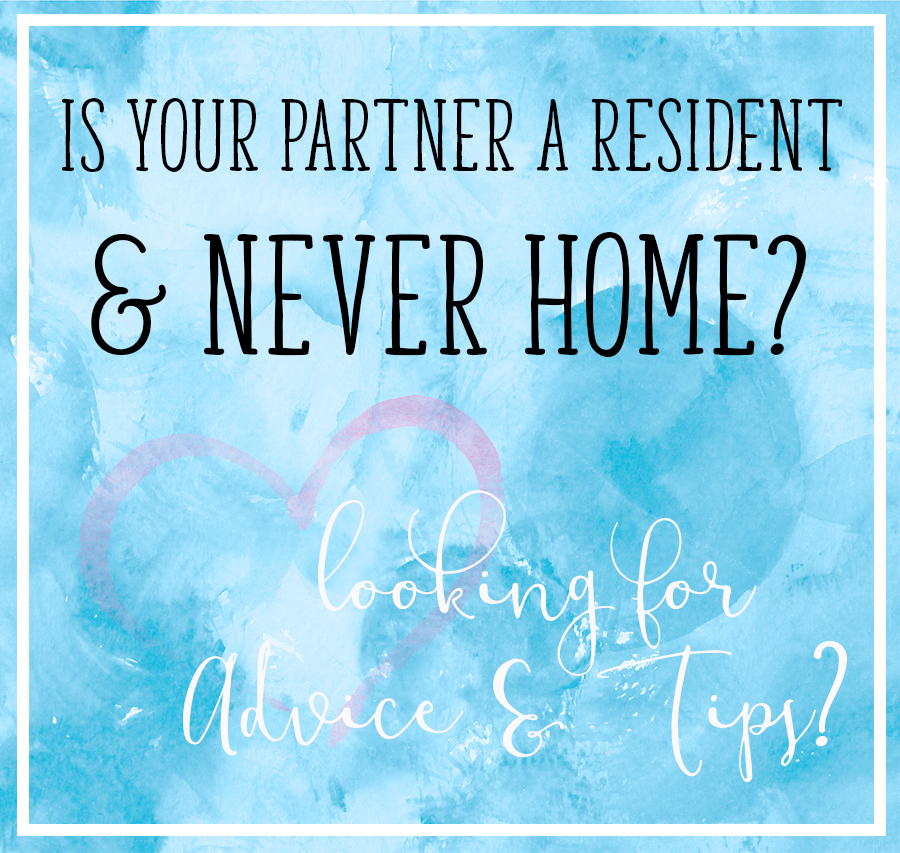 What if you or your partner is never home due to a strict and intensive residency schedule? We share advice and tips during this time. #residency #medlife #home #medicalspouses