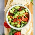A bowl of Chunky Avocado Salsa