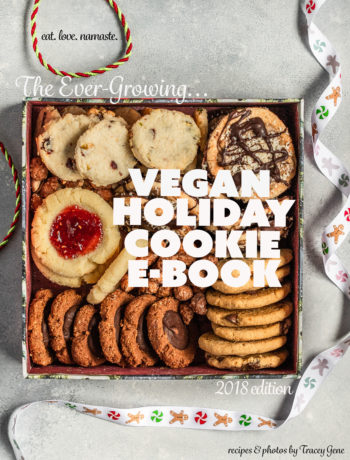 Vegan Holiday Cookie Book by @eatlovenamaste