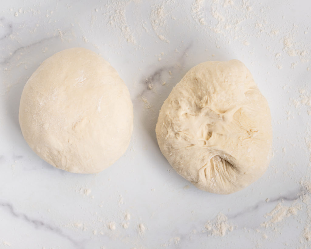 Two pizza dough balls