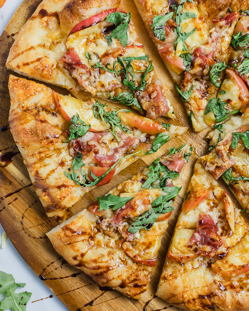 Pizza Friday Apple and Prosciutto Pizza with Balsamic Glaze