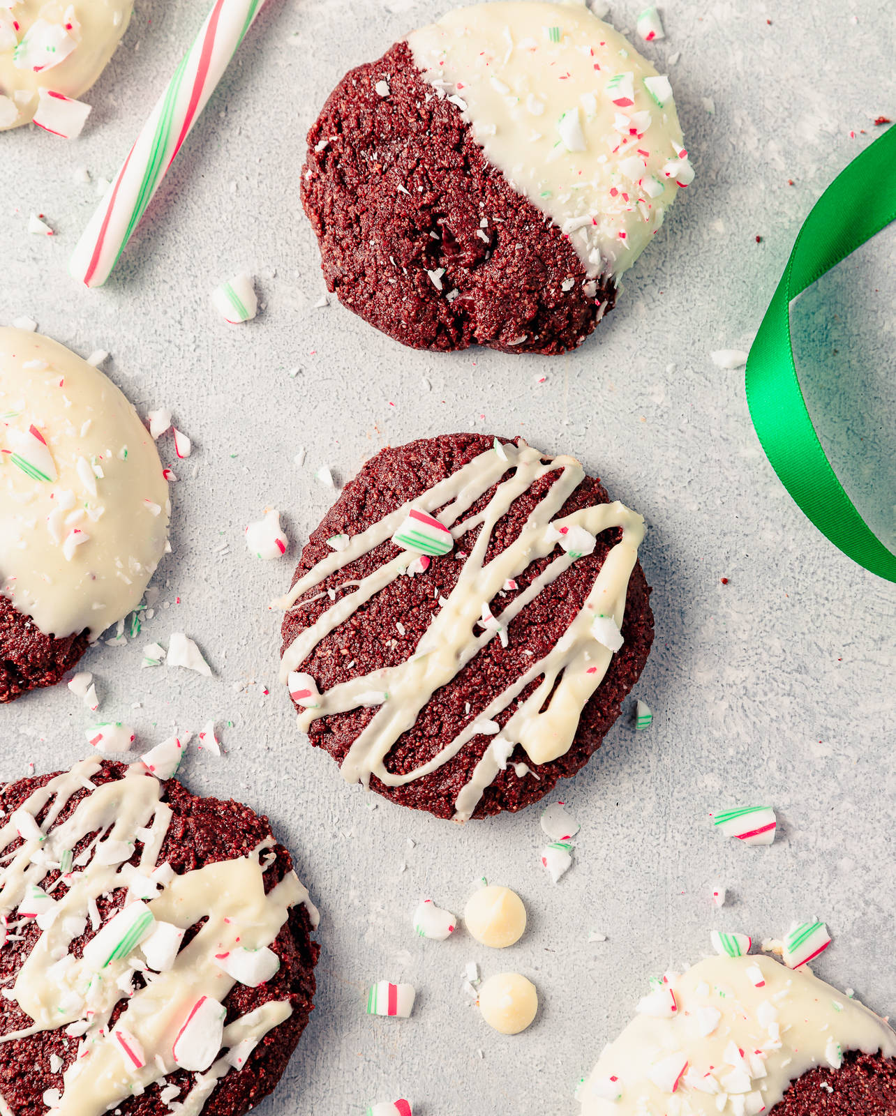 Holiday chocolate peppermint cookies