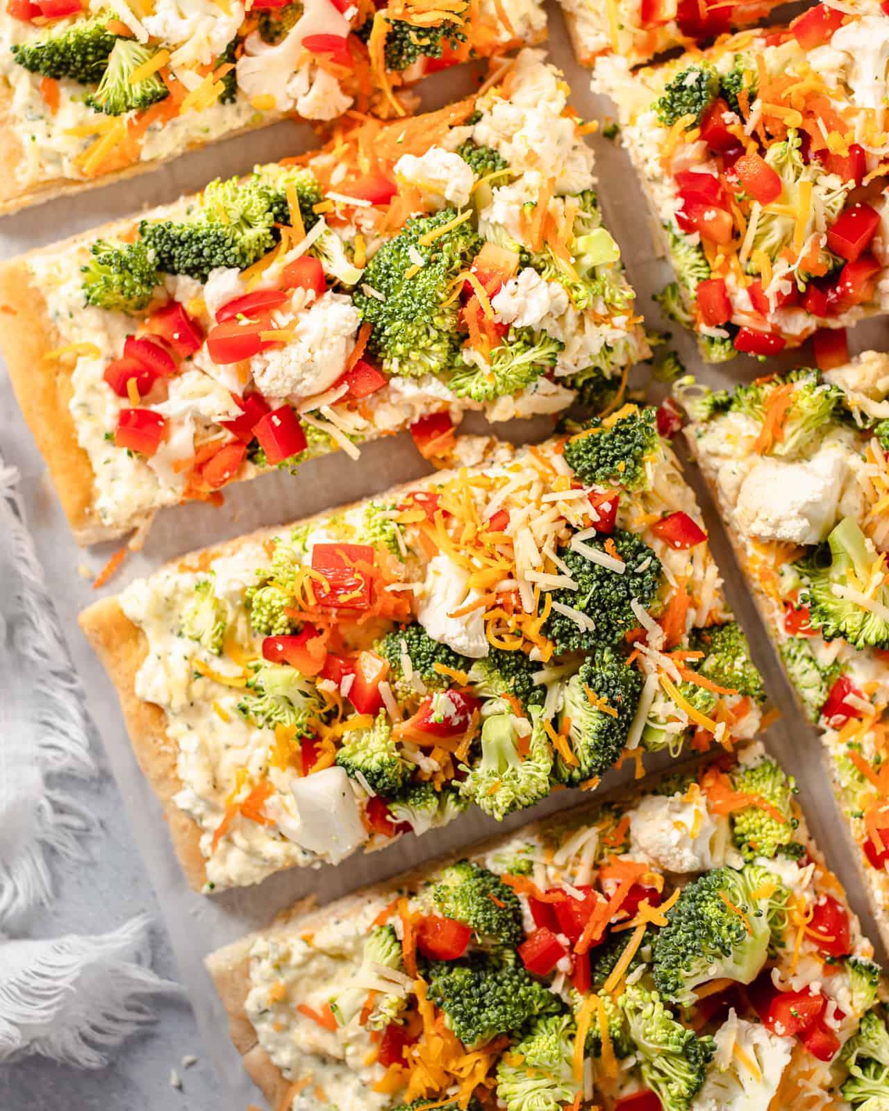 Veggie Cold Pizza