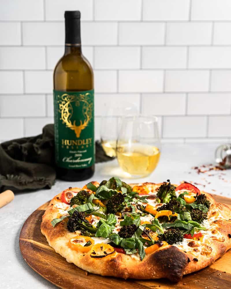 Friday Night Veggie Pizza and Chardonnay