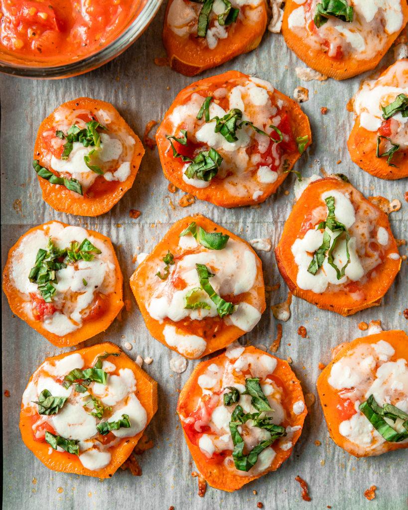 Easy Sweet Potato Pizza Bites