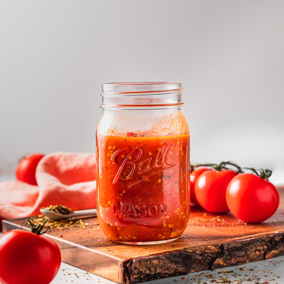 Easy Homemade Pizza Marinara Sauce that requires only 5 ingredients