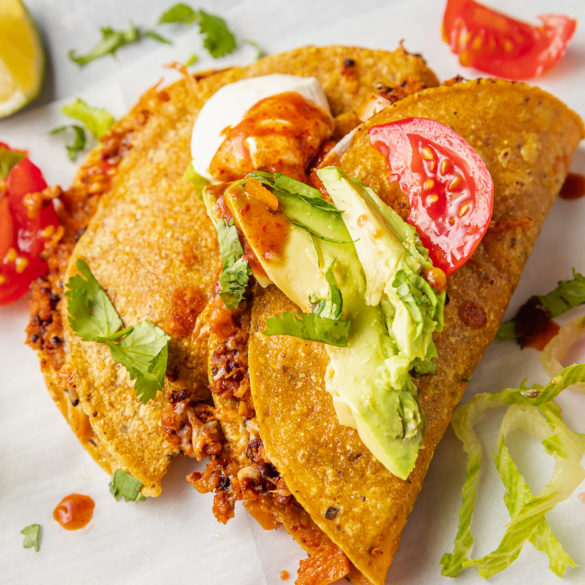 Easy and Delicious Vegan Tacos with Walnut Quinoa