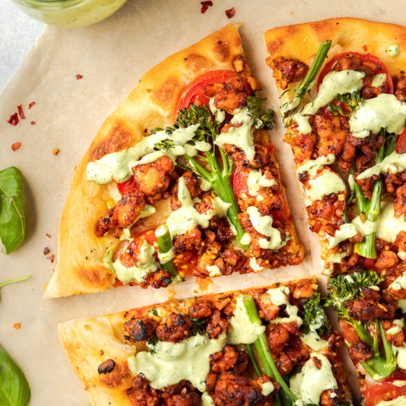 tempeh pizza