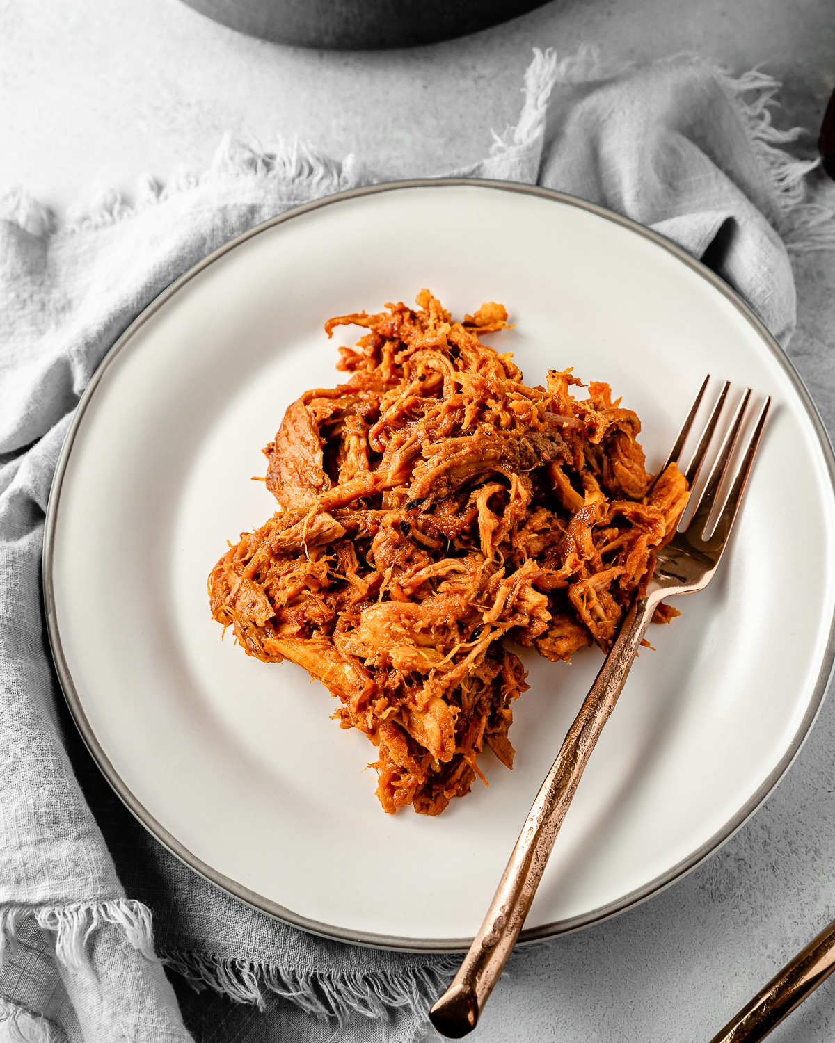 sweet pulled pork on a plate