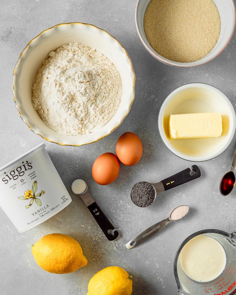 Lemon Poppy Pound Cake Ingredients