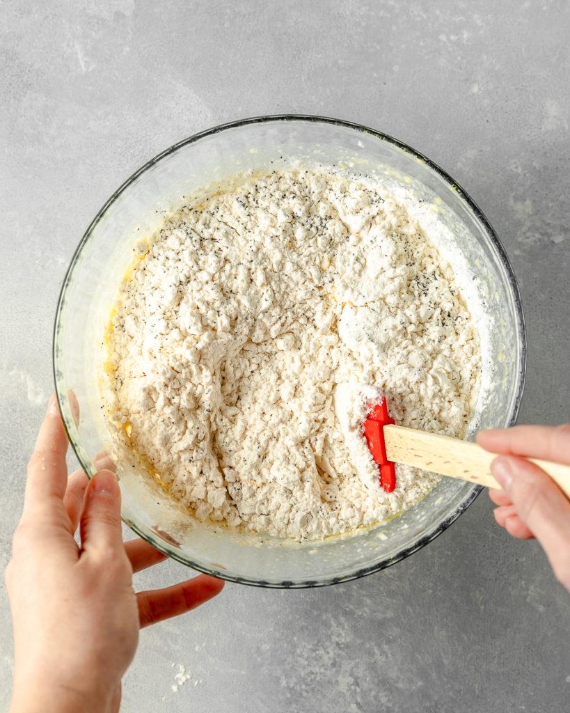 Lemon Poppy Pound Cake Dry Ingredients