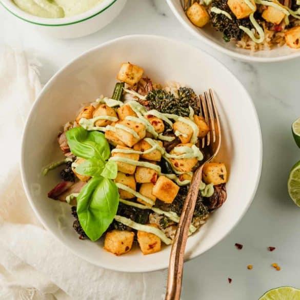 Tofu Basil Bowls