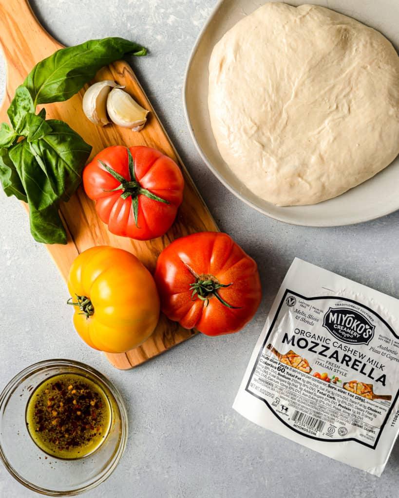 vegan margherita pizza ingredients