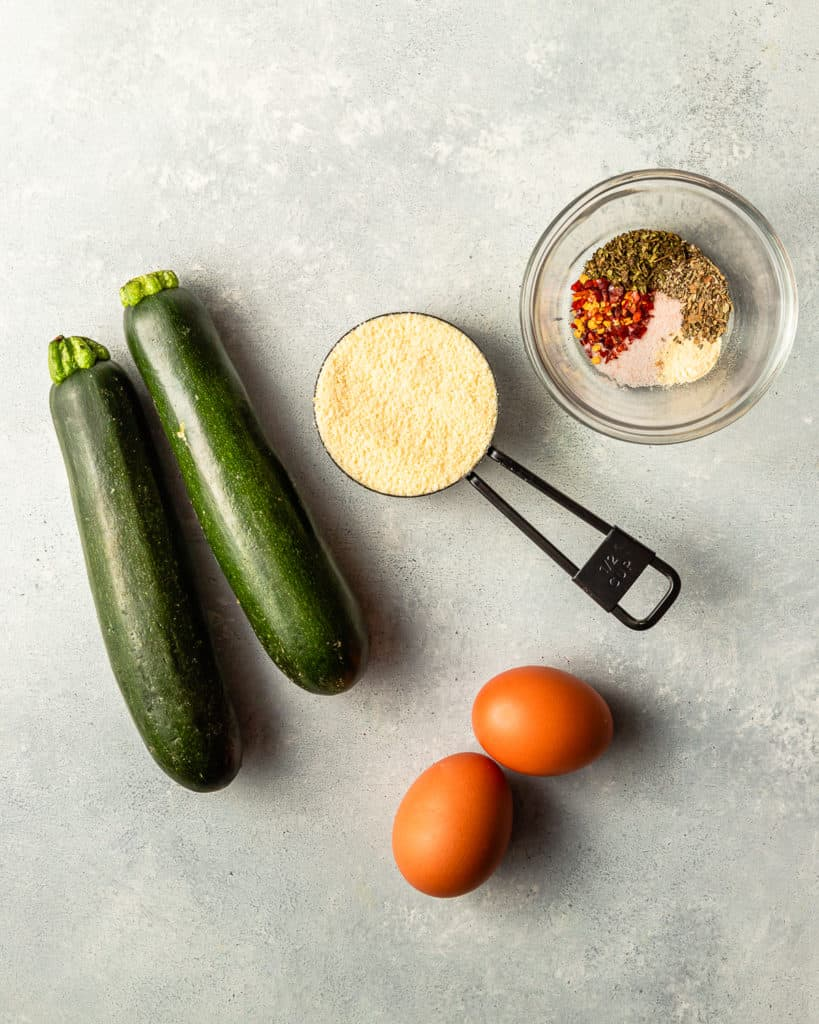 Ingredients for Zucchini Pizza
