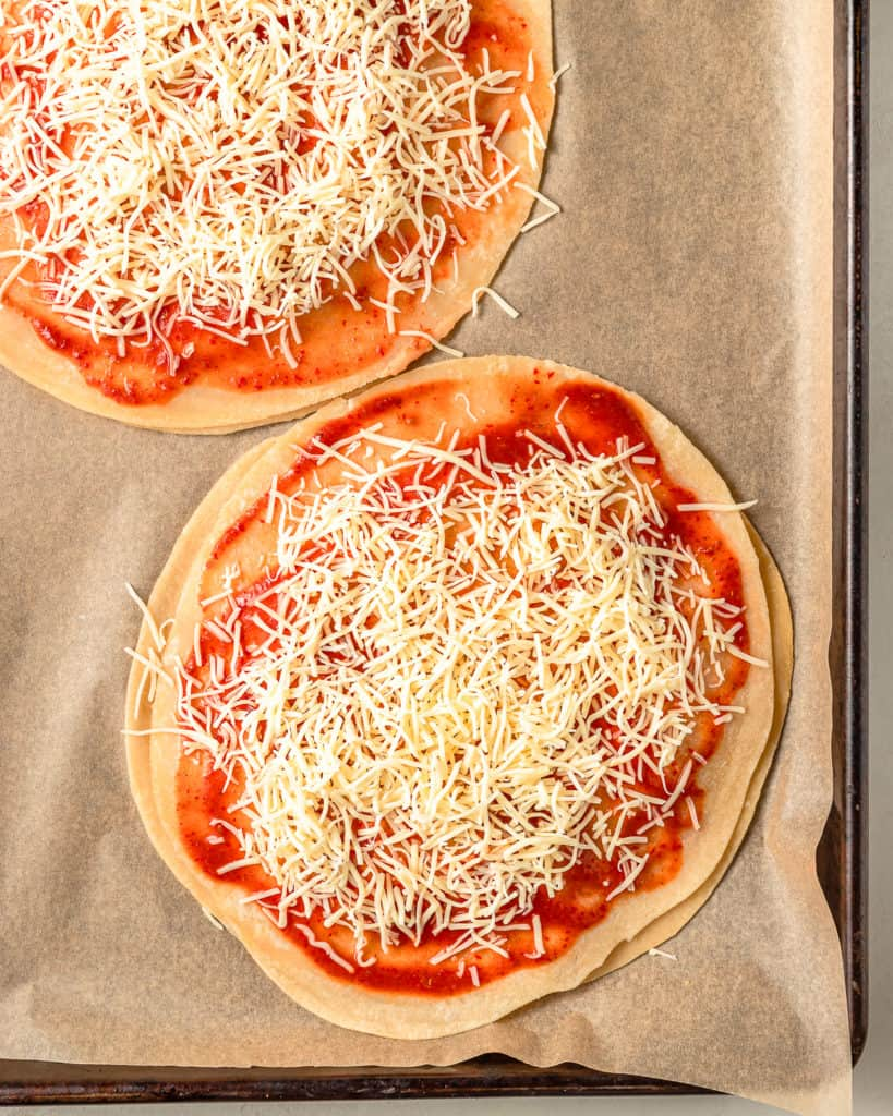Mexican Pizza with Mexican Cheese
