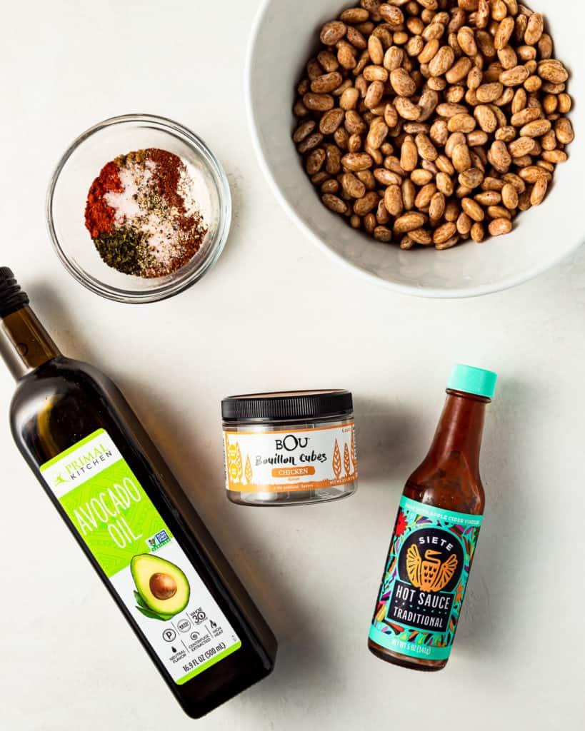 Refried Bean Ingredients